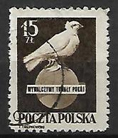 POLOGNE    -   1950.  Y&T N° 571 Oblitéré .  Colombe De La Paix - 1944-.... République