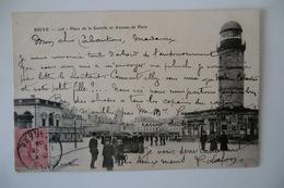 CPA 19 CORREZE BRIVE LA GAILLARDE. Place De La Guierle Et Avenue De Paris. 1904. - Brive La Gaillarde