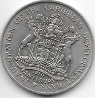 *antigua 4 Dollars 1970  Km 1 Unc - Caraibi Orientali (Stati Dei)