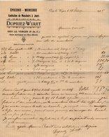 VP14.593 - Facture - Epicerie - Mercerie - Confection De Mouchoirs  DUPRIEZ - WIART à OISY LE VERGER / Gare AUBIGNY... - France