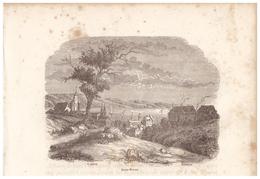 1844 - Gravure Sur Bois - Saint-Brieuc (Côtes-d'Armor) - Vue Générale - FRANCO DE PORT - Prints & Engravings