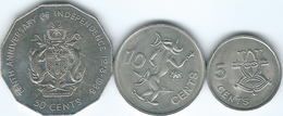 Solomon Islands - Elizabeth II - 1988 - 5 Cents (KM26) 10 Cents (KM27) & 50 Cents - Independence (KM23) - Salomon