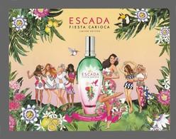 Carte Publicitaire Format Carte Postale  - Fiesta Carioca D'Escada - Perfume Cards