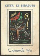 Locandina CITTA' DI SIRACUSA CARNEVALE 1956 - Pubblicità ENAL - Studio Betta Lucca - Manifesti