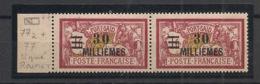 Port Said - 1924-25 - N°Yv. 77 Et 77a Se Tenant - Variété Chiffres Espacés - Neuf Luxe ** / MNH / Postfrisch - Port-Saïd (1899-1931)