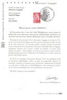 FEUILLET SOUVENIR TP 5253 Marianne L'Engagée Obl.1er Jour 20.07.2018. Notice à Tirage Limité. - Sonstige