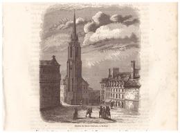 1844 - Gravure Sur Bois - Redon (Ille-et-Vilaine) - L'église Saint-Sauveur - FRANCO DE PORT - Prints & Engravings