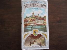 DEPLIANT TOURISTIQUE SUISSE SCHWEIZ SCHAFFHAUSEN RHEINFALL AVANT 1900 - Dépliants Touristiques