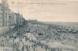 CPA - Belgique - Oostende - Ostende - Vue Générale D'une Partie De La Plage Et La Digue - Oostende