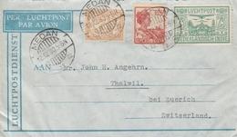 Indes Neerlandaises Lettre Medan Pour La Suisse 1930 - Indes Néerlandaises