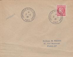 OBLIT. TEMPORAIRE CONFÉRENCE ROUTES AÉRIENNES - PARIS 3.5.46 - Postmark Collection (Covers)