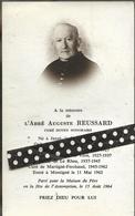 Faire Part  De Déces- De L Abbé Auguste Reussard ----Janzé-- Vitré --le Rheu-- Martigné -Ferchaud - Décès