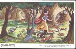 CPA Walt Disney Snow White  Her Forest Friends ... Blanche Neige  Animaux - Disneyworld