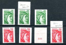 Petit Lot De Sabine De Becquet - Yvert 1970 & 1972 - Voir Description - T 803 - 1977-81 Sabine Of Gandon