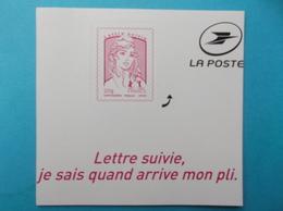 AUTOADHESIF : 1217A LETTRE SUIVIE MARIANNE De CIAPPA 20g ,rose Carminé, XX, En Trés Bon état - Frankreich