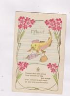 CPA , FANTAISIE EN RELIEF (gauffree)  (et Dorures)1er AVRIL - 1er Avril - Poisson D'avril