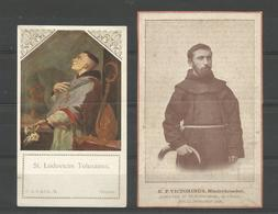 2 Holy Card.  St.Ludovicus Tolusanus / E.P.Victorinus - Religion & Esotérisme