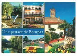 CP Bompas (66) Vues Diverses Mairie Eglise St Etienne Parc Des Sports - Frankrijk