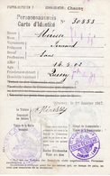 Aisne, Ardennes. PERSONEAUSWEIS-Carte D'identité 1917 CHAUNY, QUESSY, LA HARDOYE - 1914-18