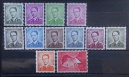 BELGIE  1958    1066 - 1075     Postfris **     CW  365,00 - 1953-1972 Lunettes