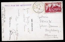 A5888) France Frankreich Karte Mit EF 90c Le Quesnoy 15.08.35 - Frankreich