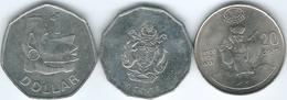 Solomon Islands - Elizabeth II - 20 Cents - 1995 - FAO (KM83); 50 Cents - 2005 (KM29) 1 Dollar - 2010 (magnetic - KM72a) - Salomon