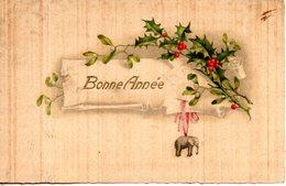 Bonne Année. Houx Et Petit éléphant - Nouvel An