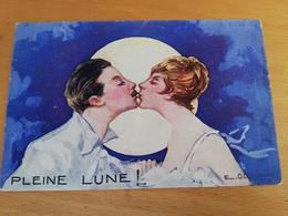 Cpa Signée Occhipinti-pleine Lune!(baiser) - Autres Illustrateurs