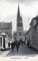 51 -  Tours Sur Marne L'eglise Animée Militaires Rare - France