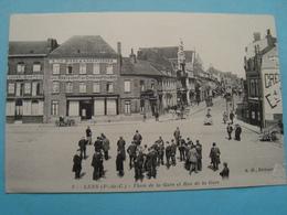 62 - Lens - Place De La Gare Et Rue De La Gare - 1916 - Lens