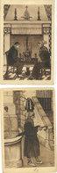 """LAM - 2 CPA - Types Basques - Au Coin De L' Atre - Vieille Femme Portant La """" Herpade """" (111660) - Autres Illustrateurs"""