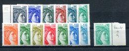 Petit Lot De Sabine De Becquet - Yvert Entre 1962 & 1976 Gomme Tropicale + 1967a- Voir Description - T 804 - 1977-81 Sabine De Gandon