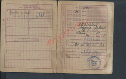 MILITARIA CARTE D ALIMENTATION DE REGNAULT SUZANNE VALÉRIE A ROZAY EN BRIE 1946 DECHIRURE : - Cartes