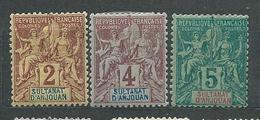 ANJOUAN  N°  2/4  *  TB - Anjouan (1892-1912)