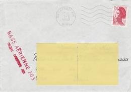 OBLIT. CAMBRAI AIR 2.5.89 - BASE AÉRIENNE 103 - Bolli Militari A Partire Dal 1940 (fuori Dal Periodo Di Guerra)