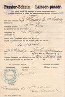 Ardennes. PASSIER-SCHEIN.1915. LA HARDOYE. CHAUMONT-PORCIEN - 1914-18