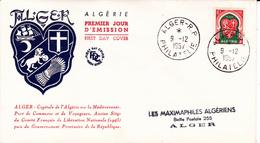 Algérie FDC YT 337D Alger 09/12/57 - Algérie (1924-1962)
