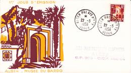 Algérie FDC YT 313B Alger 22/05/56 - Algérie (1924-1962)