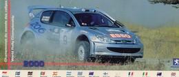 Peugeot 206 WRC - Gilles Panizzi/Herve Panizzi - Championnat Du Monde Des Rallyes 2000 - Carte Postale Promo - Rally Racing