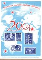 FRANCE GRAVURE VOEUX DE LA POSTE 2001 - Altri