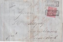 NORDDEUTSCHER BUND 1871 LETTRE DE BUCKAU - Norddeutscher Postbezirk