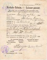 Ardennes. VERKEHR-SCHEIN. Laisser-Passer 1916 ROCQUIGNY Kommandantur, LA HARDOYE Pour WADIMONT - 1914-18