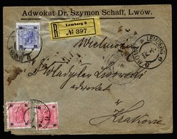 A5889) Austria Österreich R-Brief Lemberg 03.07.1900 N. Krakau - 1850-1918 Imperium