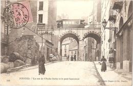 Dépt 44 - NANTES - La Rue De L'Arche-Sèche Et Le Pont Sauvetout - (tramway, Train) - Héliotypie Dugas Et Cie, N° 260 - Nantes