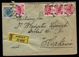 A5890) Austria Österreich R-Brief Lemberg 03.07.1901 N. Krakau - 1850-1918 Imperium