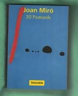 CP50 BLOC De CARTES POSTALES Complet 30 Cartes Joan Miro   Format 16 X 11 Cm Env - Peintures & Tableaux