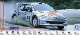 Peugeot 206 WRC - Marcus Gronholm/Timo Rautiainen - Championnat Du Monde Des Rallyes 2000 - Carte Postale Promo - Rally Racing
