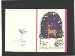LITHUANIA LSSR Telegram Sheet LTSR 008 New Year Christmas - Lituania