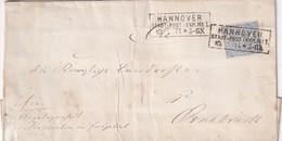 NORDDEUTSCHER BUND 1871  LETTRE DE HANNOVER - Norddeutscher Postbezirk (Confederazione Germ. Del Nord)