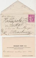 Enveloppe + Carte Visite Roger FORT / Chef Escadron Artillerie Coloniale / 1939 / Médailles / 49 Bagneux Les Saumur - Visiting Cards